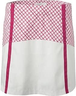 Lady Hagen Women's Sunset Collection Windowpane Block Golf Skort (0) Pink