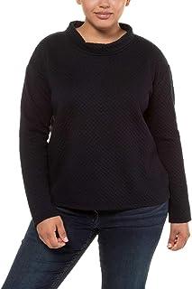 ULLA POPKEN Struktur-Sweater mit Kragen Felpa Donna