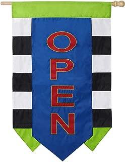 Evergreen Open Appliqué House Flag - 28