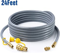 GASPRO 24 Feet 1/2 ID Natural Gas Hose, Propane Gas Grill Quick Connect/Disconnect Hose Assembly with 3/8