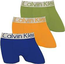 (カルバンクライン) Calvin Klein ボクサーパンツ メンズ ロング丈 ロングヴボクサー 3枚セット CK オシャレ おしゃれ 無地 ボーダー 3枚組 セット 福袋 [並行輸入品]