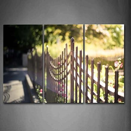 Amazon.fr : cloture jardin - Impressions sur toile / Tableaux ...