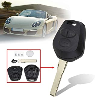 Udele-Store - 3 Buttons Car Remote Fob Key Case Shell With Battery Replacement For Porsche 911 996 Boxster S 986