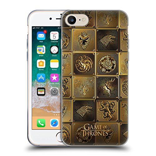 Head Case Designs Officially Licensed by HBO Game of Thrones All Houses Golden Sigils Soft Gel Case Compatible with Apple iPhone 7 / iPhone 8 / iPhone SE 2020
