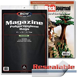 BCW Resealable Magazine Bags 8-3/4