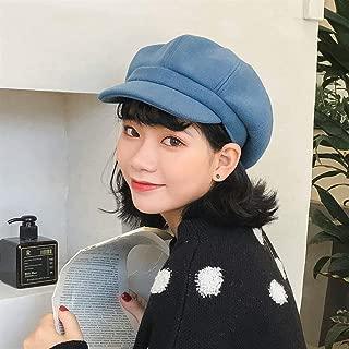 ZiWen Lu South Korean Female Winter hat, Ms. Benn Beret Painter Cap Vintage Wool Cap Autumn and Winter Korean Version of Star Anise (Color : Orange, Size : One Size)