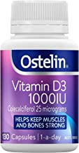 Ostelin Vitamin D3 1000IU Capsules, Maintains Bone and Muscle Strength, Helps Boost Calcium Absorption, 130 Capsules