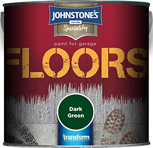 Johnstone's 307947 Garage Floor Paint Dark Green, 2.5 Litre