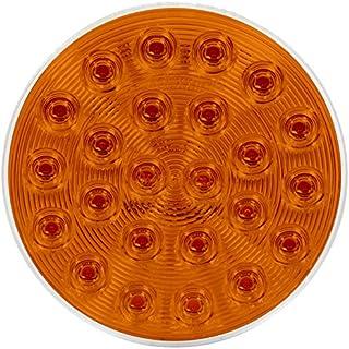 """Maxxima M42701Y 24 LED 4"""" Round Amber Warning Flasher Light"""