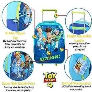 61lw6tdWjoL. SS300  - Disney Toy Story 4 Mochilas Escolares Juveniles con Forky, Woody, Buzz Y Bo Peep | Mochila De Cuerda Infantil | Bolsa De…