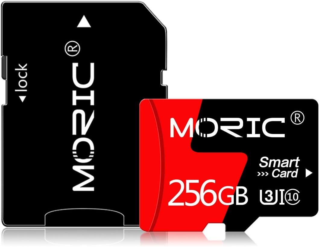 256GB Micro SD Card High Speed Class 10 with SD Adapter Memory Card for Smartphones and Other Compatible Devices