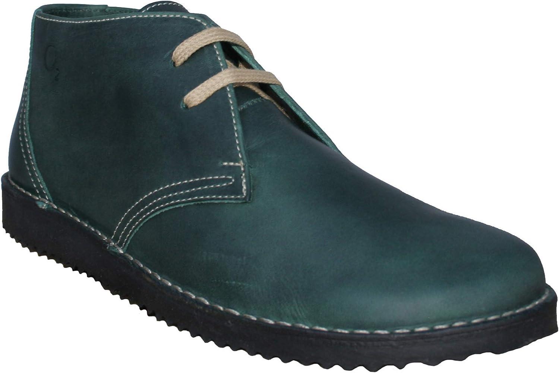 Oxygen Leather Desert Boot Bombay Bottle Green
