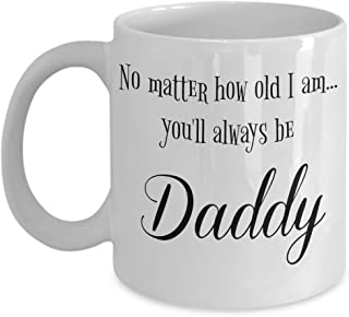 To Daddy From Daughter Gifts - Sentimental Gifts For Dad - I Love Daddy Mug - Fathers Day 11 oz Coffee Cup - Birthday Gift for Father