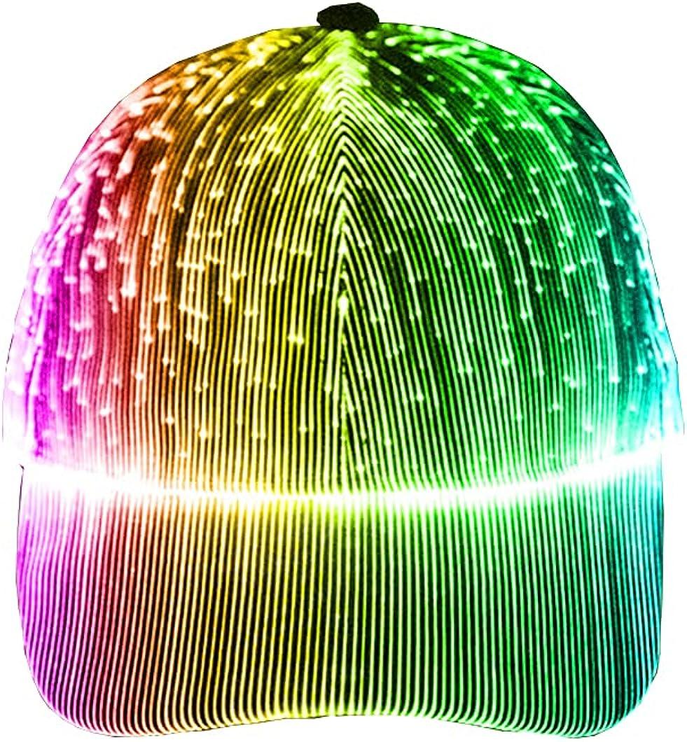 LED Fiber Optic Luminous hat Outdoor Luminous Peak Cap Baseball Cap Performance Cap