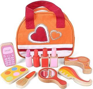 YHomU Children Teaching Education Developmental Kids Safe Cosmetic Portable Kids Makeup Toy Set Wooden Imaginative Educati...