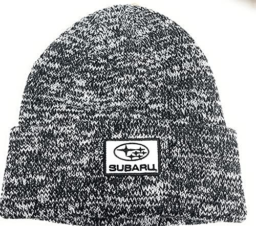 Subaru Genuine Heather Black/Gray Cuffed Knit Hat Impreza STI WRX Racing Ski Snow New