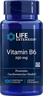 Life Extension Vitamin B6 250 mg, 100 Vegetarian Capsules