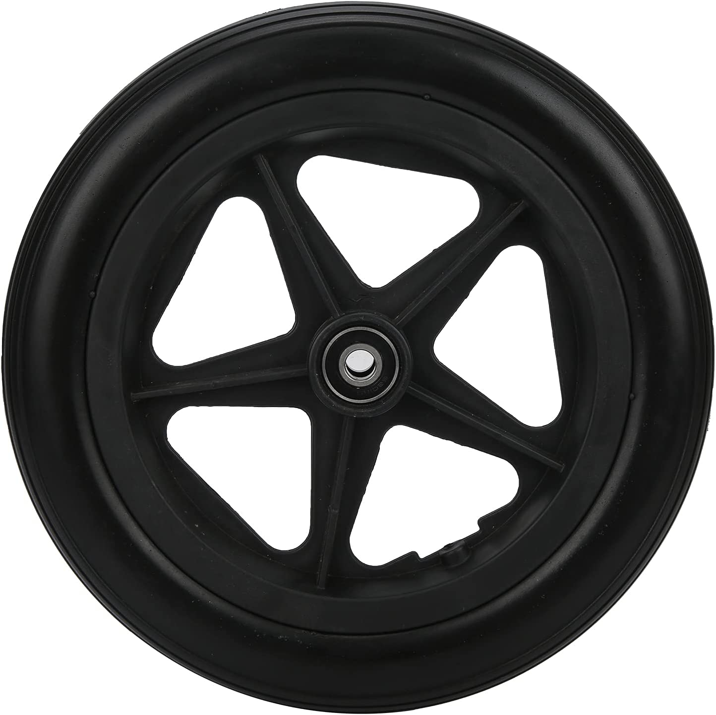 12in Solid Wheel Replacement PU Aluminum Alloy Non-Slip Front Ti