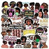 Struggle Stickers Music Star Melanin Poppin Stickers for Laptop Water Bottles Skateboard Pop Singer Stickers Durable Trendy Waterproof Vinyl Stickers for Teens, Computer Stickers Decal [50Pcs]