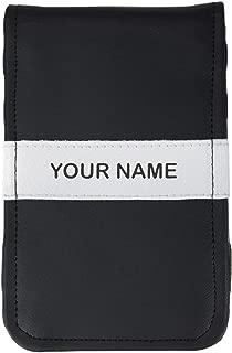 Sunfish Custom Golf Scorecard and Yardage Book Holder Name Engraved Black and White