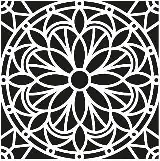 Artemio Mandala Plantilla Home Déco, plástico, Negro, 30,5 x 0,