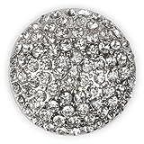 styleBREAKER ornamento magnetico rotondo con pietre strass per sciarpe, scialli o poncho, spilla, da donna 05050039, colore:Argento
