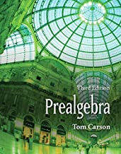 Prealgebra, Third Edition by Tom Carson (2008-01-08)