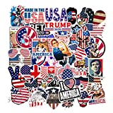 [FOCUS's Stickers]50Pcs US President Flag Independence Day Stickers for Laptop Cellphone Water Bottle Hydro Flask Skateboard Luggage Car Bumper, etc FJHSL