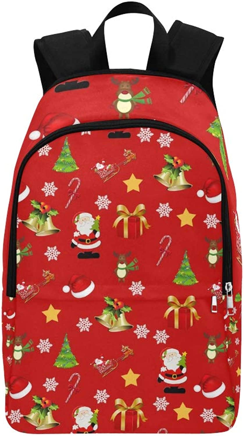 Travel School Daypack Bag On Christmas Red Casual College WHYEI9D2