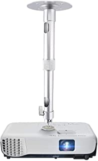 Universal Projector Wall Ceiling Mount Hanger 360°Rotatable Head with Extendable Length 11.8 Inch to 19.7 Inch / 11 lbs Lo...