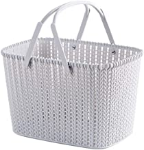 XinQing-Storage basket Portable rattan bath basket storage basket Desktop snack basket storage basket toy storage basket 2...