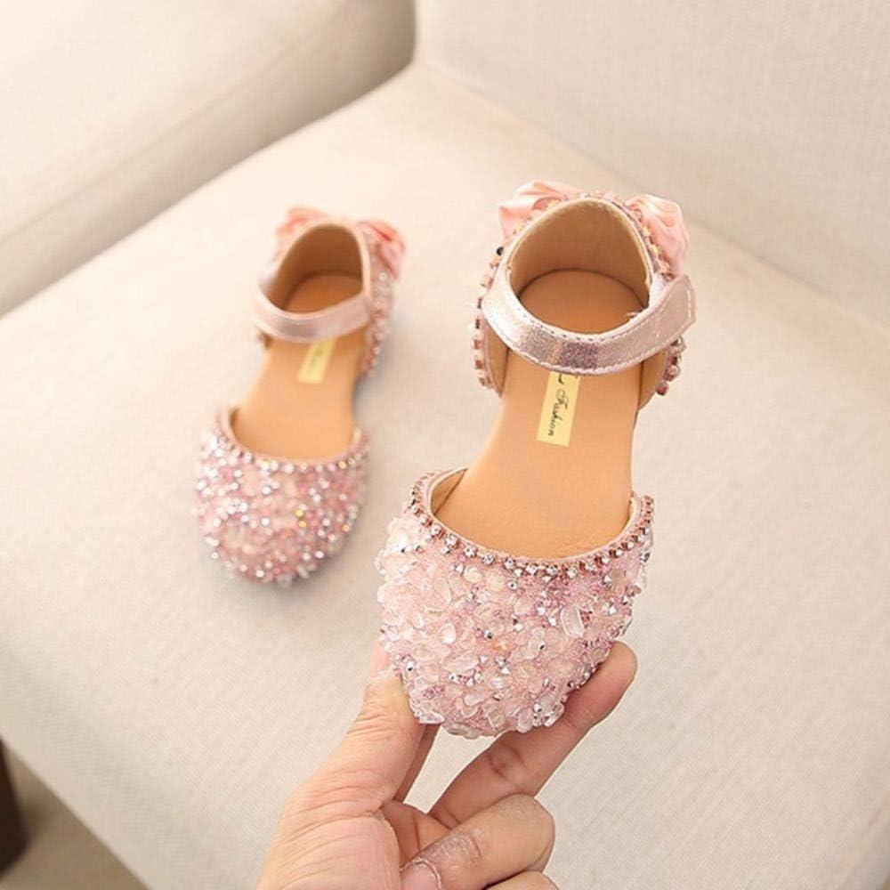 Sandalias para niñas verano niños niñas niñas bebé niña lazo L sandalias de princesa zapatos de boda #TX4, rosa, 11.5