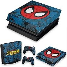 Capa Anti Poeira e Skin para PS4 Slim - Homem-Aranha Spider-Man Comics