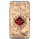 Buckle-Down womens Buckle-down Hinge - Hogwarts School the Marauder's Map Tan/Reds Wallet, Multicolor, 7 x 4 US