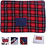HLZF Portable USB Lap Heated Throw Blanket, Winter Warming Heating Blanket Throw Electric USB for Car Home Office Outdoor Removable Washing, Battery Operated
