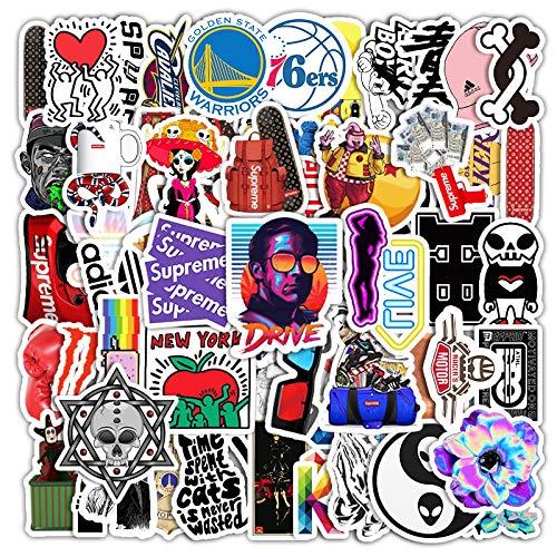 WYZNB 62 pegatinas divertidas de Hip Hop para niños de Pascua creativa Diy regalo de decoración para ordenador portátil, monopatín, impermeable vinilo graffiti pegatinas