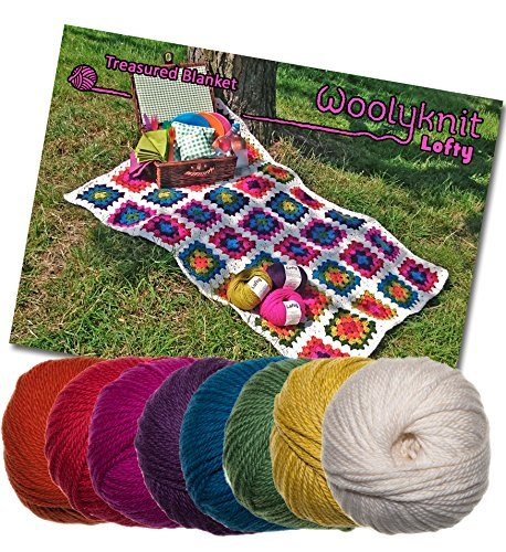 Treasured Decke Crochet Bundle Pack, Wolle und Häkelmuster.