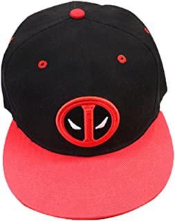 best authentic cd7f0 db478 Fashion Unisex Adult Canvas Deadpool Hip Hop Hat Peaked Cap