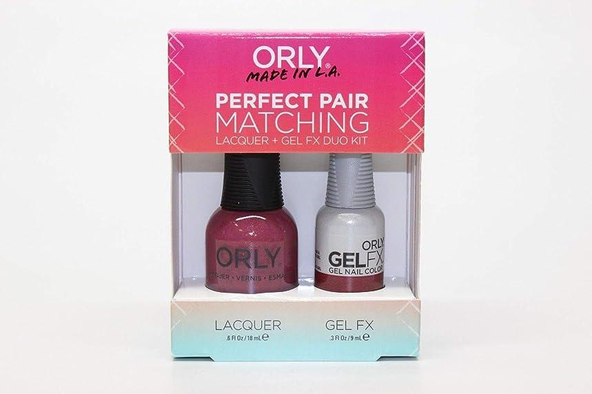 スケッチ成人期排気Orly - Perfect Pair Matching Lacquer+Gel FX Kit - Hillside Hideout - 0.6 oz / 0.3 oz