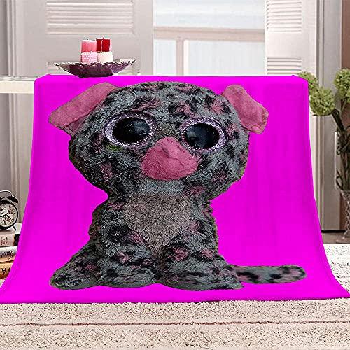 Manta de estrella de cinco puntas para sofá 3D Feliz cumpleaños 90 mantas sherpa impresión mantas suaves y cálidas de microfibra para sofá, dormitorio, viaje, 130 x 150 cm