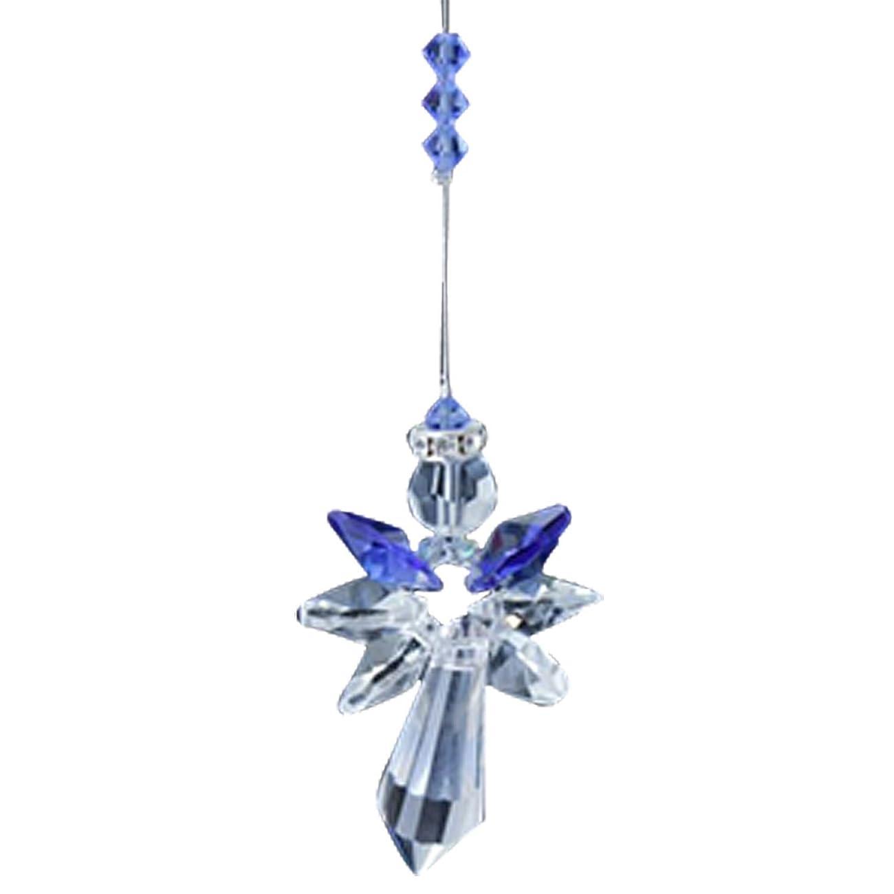 D4P Sapphire Blue Rainbow Maker Home Ornament Glass Decoration Living Room Bedroom Kitchen Car Mirror Porch Decor Figurine Hanging Crystal Suncatcher
