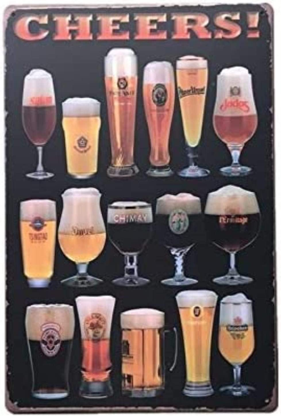 TONG Toy 12x8 Product Inches Wine Beer Metal Tin Poste price Retro Drinks Sign