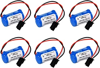PLC Battery Replacement for Allen Bradley 1756-BA2 BR2/3A-AB 1745-B1 3.0V 1200mAh - Pack of 6