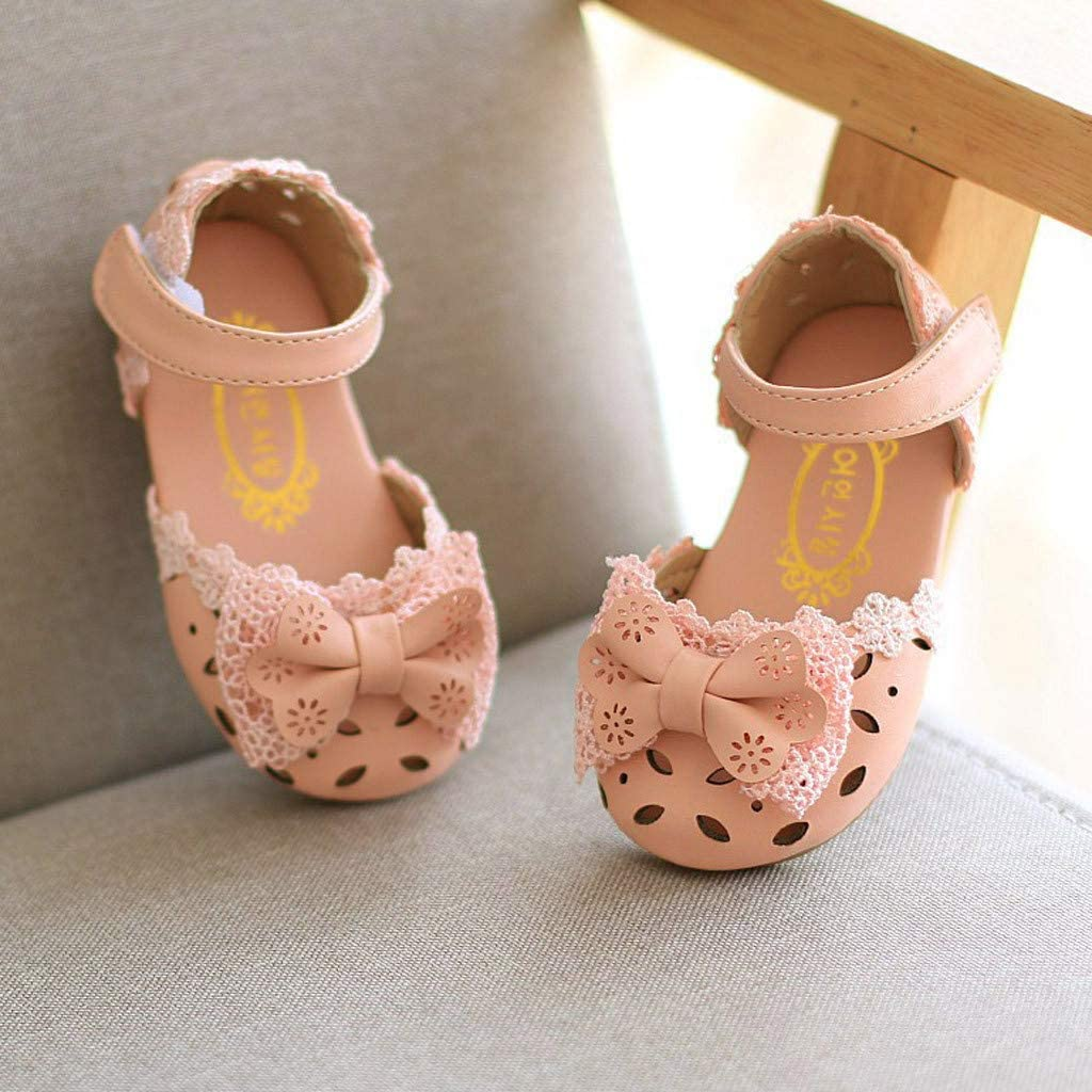 ❤️Rolayllove❤️ Children Baby Girls Stried Bowknot Sport Sneakers Open Toe Princess Beach Sandals Shoes