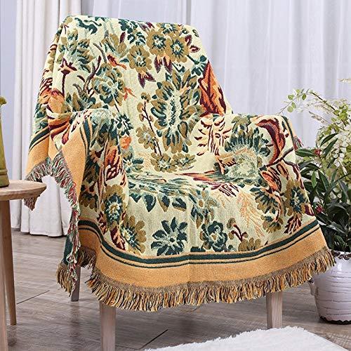 Dreischichtige Dicke Sofadecke Im Europäischen Stil, Gewebtes Sofatuch Mit Modedruck, rutschfeste Sofabezug Gegen Verschmutzung, Universeller Stoffteppich, Picknickdecke, Dekoratives Sofatuch