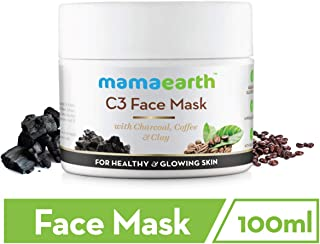 Mamaearth Charcoal, Coffee and Clay Face Mask, 100ml (Single pack)