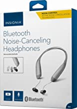 Insignia Wireless In-Ear Behind-the-Neck Noise Canceling Headphones (NS-CAHBTEBNC-S) Silver