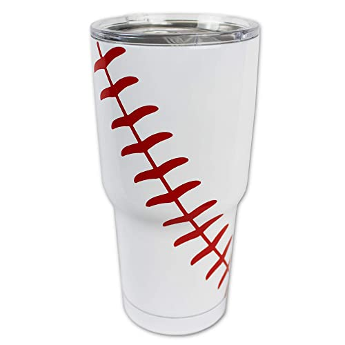 5709743f995 Baseball Tumbler Cup 30oz Gift for Mom Men Sports Coach Travel Coffee Mug,  Stainless Steel
