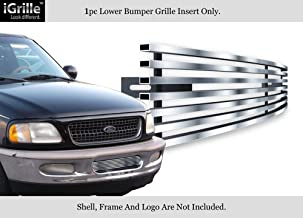APS Compatible with 97-98 Ford F-150 4WD Expedition Bumper Stainless Steel Billet Grille F85038C