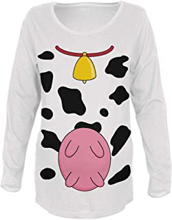 Old Glory Halloween Cow Costume Udders Funny Maternity Soft Long Sleeve T Shirt